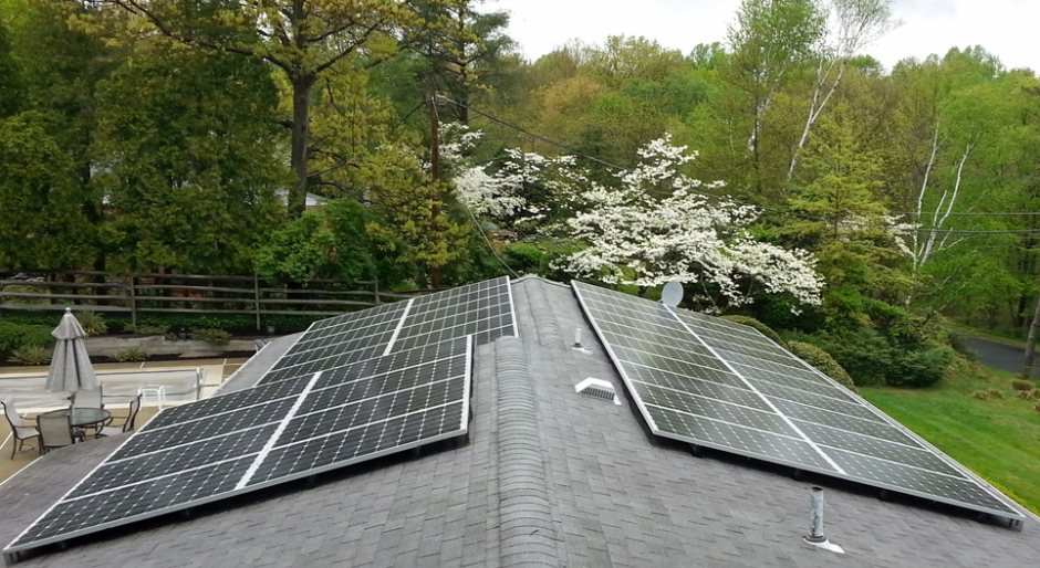 Solar array - 10kW system comprised of 40 solar panels